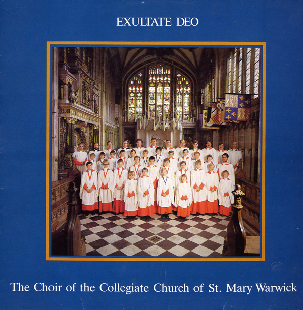 1986 Exsultate Deo   St Mary's Warwick Choir -  Abbey